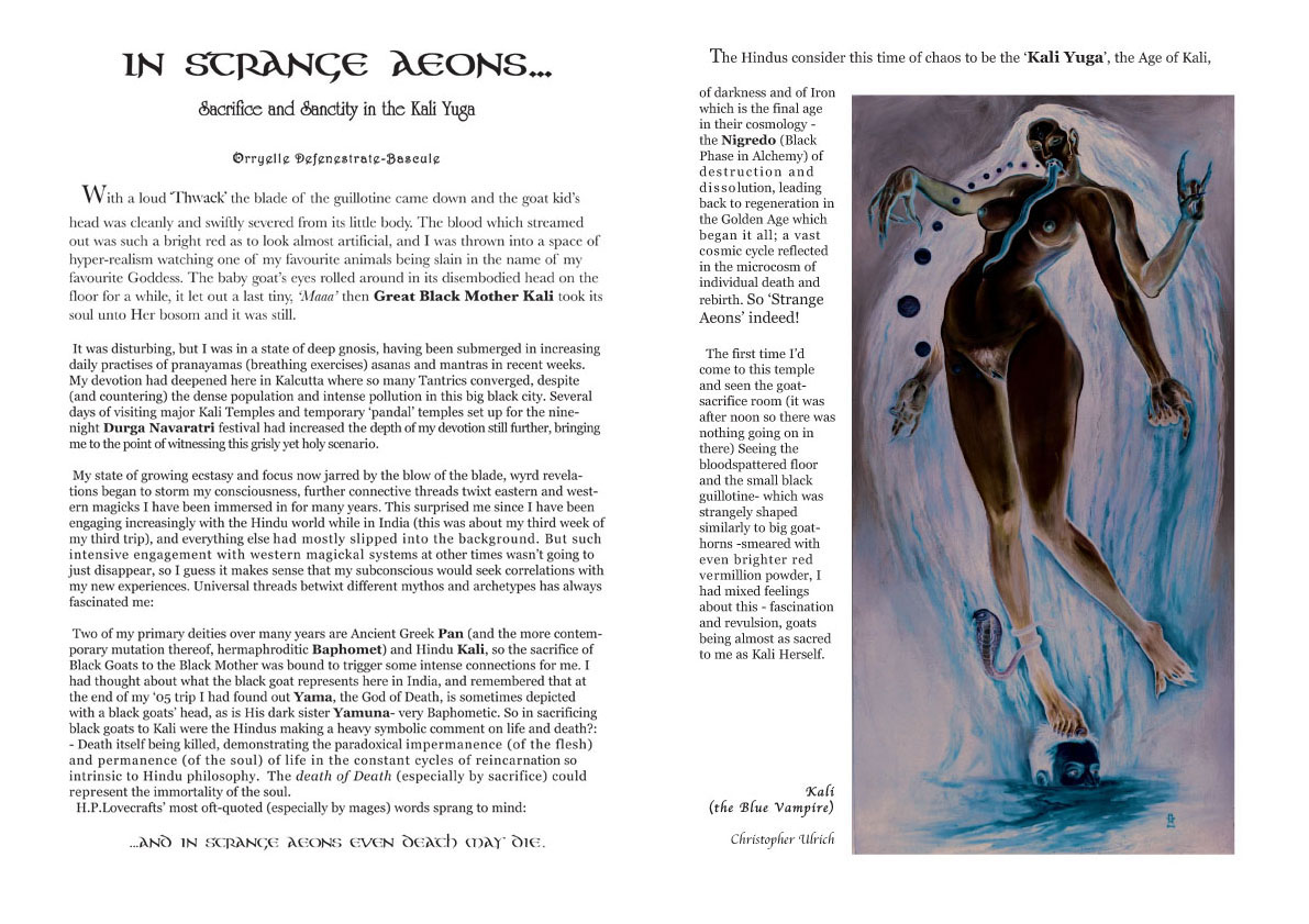instrangesample jpg below the beginning of an essay on sacrifice in the kali yuga by orryelle paintings by christopher ulrich